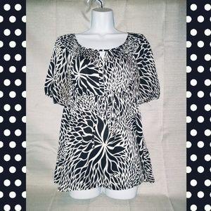 WORTHINGTON black & white blouse